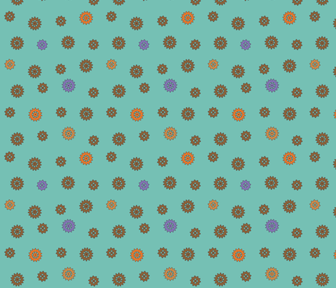 Octo Cogs fabric by phantomssiren on Spoonflower - custom fabric