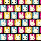Kawaii Bunny Squares (Disco)