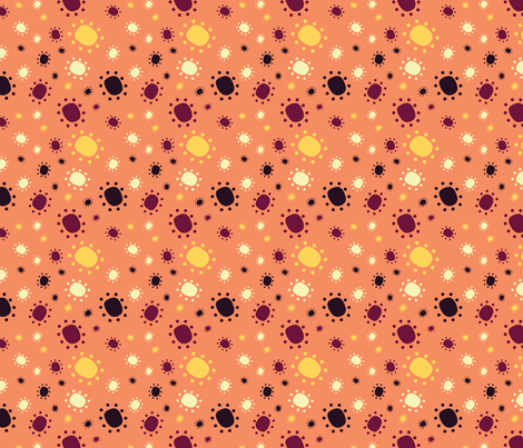 Harlequine Summer Dots - Peach fabric by jubilli on Spoonflower - custom fabric