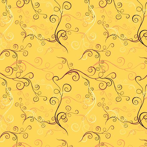 Harlequin Summer Swirlsc - Yellow fabric by jubilli on Spoonflower - custom fabric