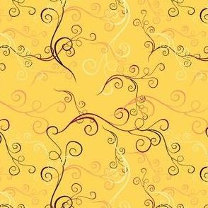 Harlequin Summer Swirlsc - Yellow