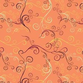 Harlequin Summer Swirls - peach