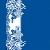 Willow-esque Tea Towel - Blue