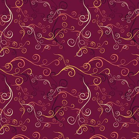 Harlequin Summer Swirls - Fuschia fabric by jubilli on Spoonflower - custom fabric