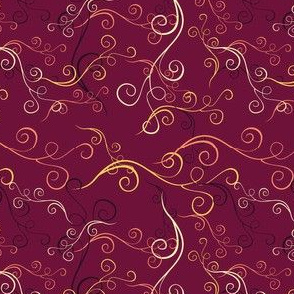 Harlequin Summer Swirls - Fuschia