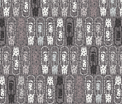 Vacuum Tube Phased Gray fabric by glimmericks on Spoonflower - custom fabric