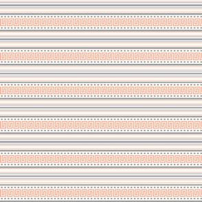 Fret Stripe Salmon Pink-Charcoal Grey