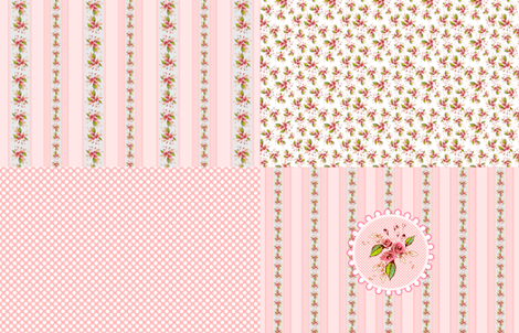 Sateen Roses Coordinate Parson's Pink Fat Quarters fabric by joanmclemore on Spoonflower - custom fabric