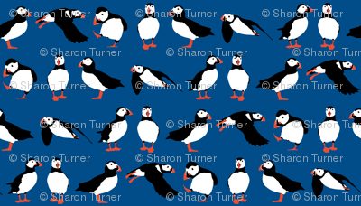 just puffins blue small
