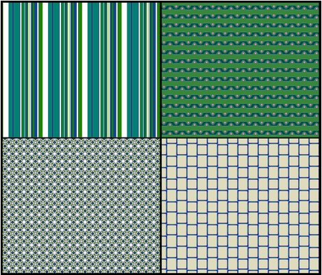 Leafy Greens Coordinates fabric by fireflower on Spoonflower - custom fabric