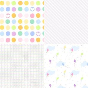 Rainbow Pastel - Coordinated Quartet!  -  © PinkSodaPop 4ComputerHeaven.com