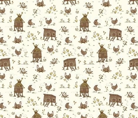 Chicken_Conversational1 fabric by stacyiesthsu on Spoonflower - custom fabric