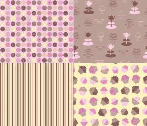 Cupcakes Coordinates fabric by madex on Spoonflower - custom fabric