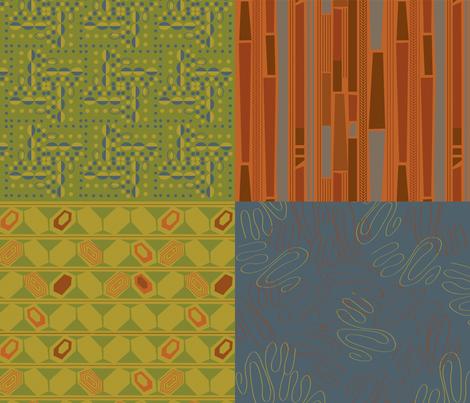 Mod Men Coordinates fabric by acbeilke on Spoonflower - custom fabric