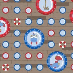porthole polka dots