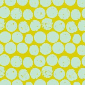 cork polka chartreuse mint