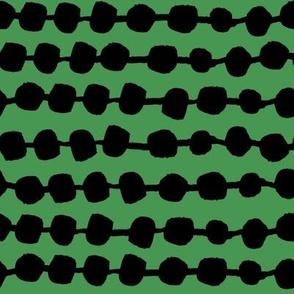 Rows of Dots - Kelly Green/Black by Andrea Lauren