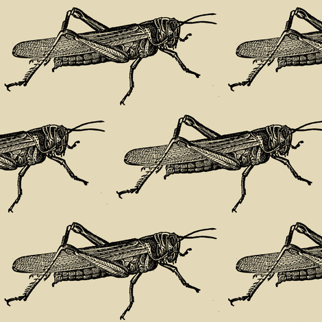A Plague Of Giant Locusts fabric by edsel2084 on Spoonflower - custom fabric
