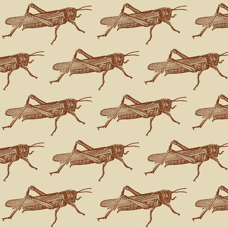 A Plague Of Big Brown Locusts fabric by edsel2084 on Spoonflower - custom fabric