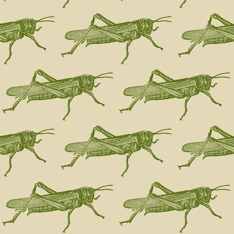 A Plague Of Giant Green Locusts fabric by edsel2084 on Spoonflower - custom fabric