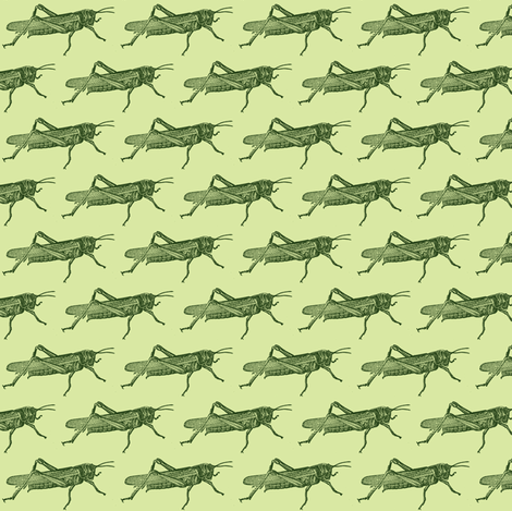 A Plague Of Little Green Locusts fabric by edsel2084 on Spoonflower - custom fabric