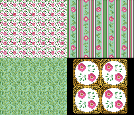 Rose_4_in_1_C fabric by khowardquilts on Spoonflower - custom fabric