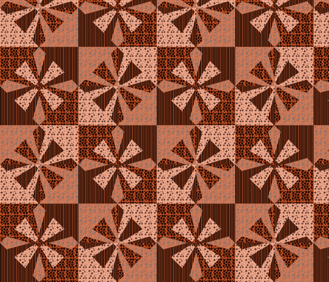 Bonanza In Brown  Kaleidoscope fabric by dogdaze_ on Spoonflower - custom fabric