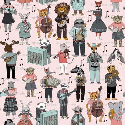 Musical Animal Alphabet - Pink