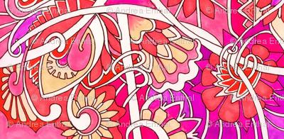 Flower Girl vertical stripe