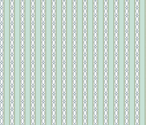 Antique Nouveau Floral - Nouveau Stripe fabric by nicoletamarin on Spoonflower - custom fabric