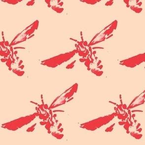 Bee Sketch 2 Peachy