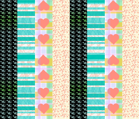 Love Is Messy scarf coordinates fabric by prettyroses on Spoonflower - custom fabric