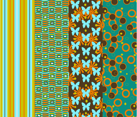 Sunny Bunches of Oh Yeahs fabric by tracydb70 on Spoonflower - custom fabric
