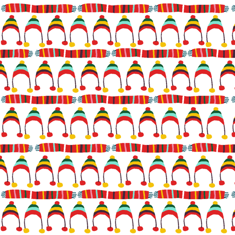 Flapdoodle Hats fabric by lauriewisbrun on Spoonflower - custom fabric