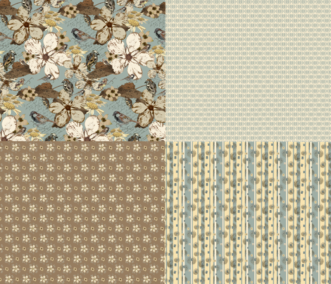 Julia's Notes fabric by petals_fair_(peggy_brown) on Spoonflower - custom fabric