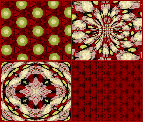Roses Coordinating patterns fabric by artist4god on Spoonflower - custom fabric