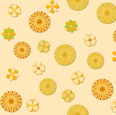 Floral - Mango fabric by sheila_marie_delgado on Spoonflower - custom fabric