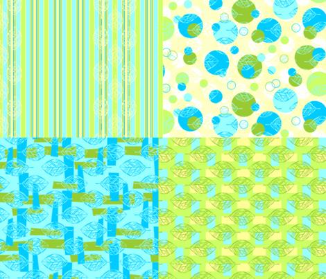 Leafbones Coordinates fabric by katieart on Spoonflower - custom fabric