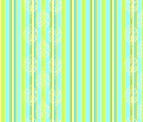 Leafbones and Stripes fabric by katieart on Spoonflower - custom fabric