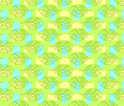Leafbones in Green fabric by katieart on Spoonflower - custom fabric
