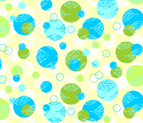 Leafbones with Dots fabric by katieart on Spoonflower - custom fabric
