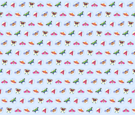 moth moons small fabric by coggon_(roz_robinson) on Spoonflower - custom fabric