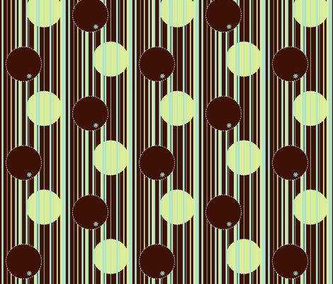 Glowing stripes (and bubbles) fabric by kato_kato on Spoonflower - custom fabric