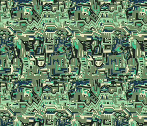 Circuits Blue fabric by teja_jamilla on Spoonflower - custom fabric