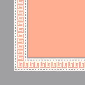 Napkin Fret Salmon Pink-Plain