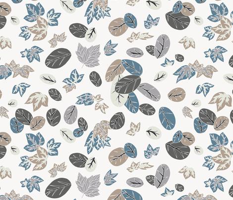 Falling Leaves fabric by teja_jamilla on Spoonflower - custom fabric