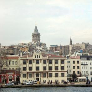 Istanbul-Pera-Galata-Bosporus Cityscape