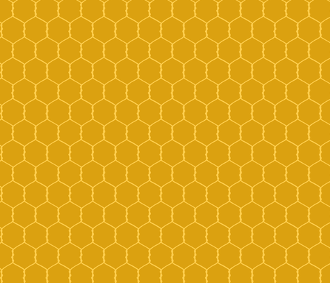 chicken wire - sand fabric by meredithjean on Spoonflower - custom fabric