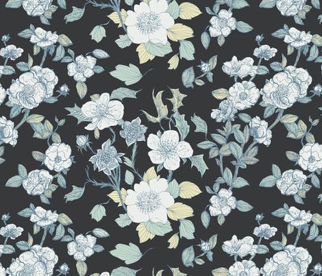 Luminous Blooms  fabric by teja_jamilla on Spoonflower - custom fabric