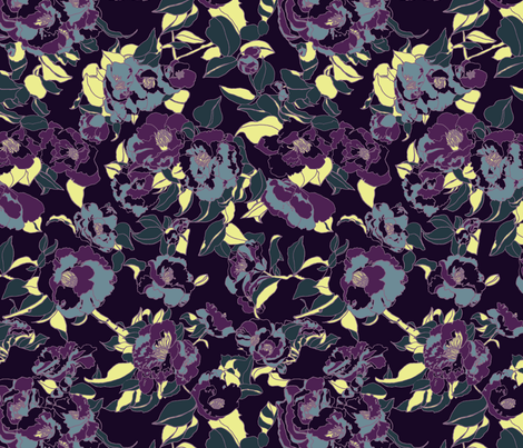 Nightblooms   fabric by teja_jamilla on Spoonflower - custom fabric